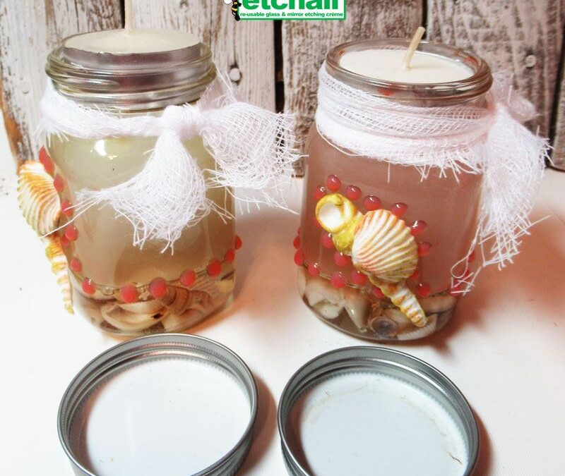 Beachy Candle Jars