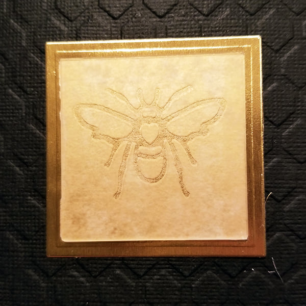 Etched Glass Honey Bee