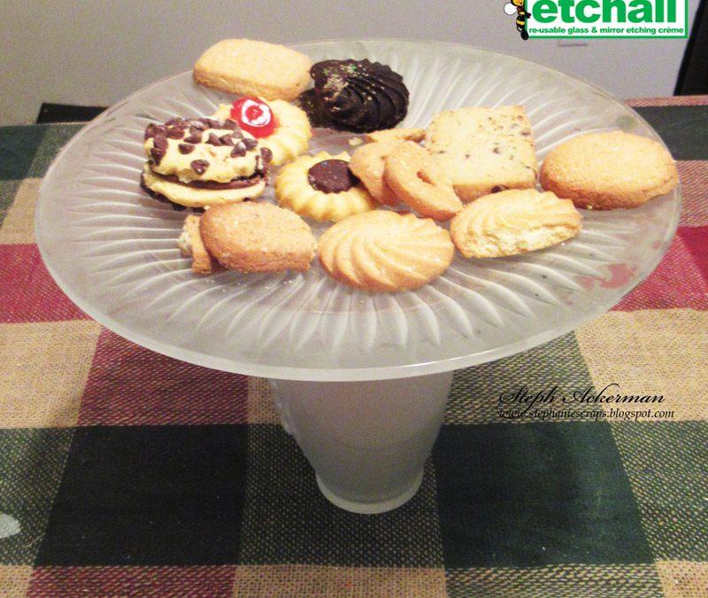 Etched Football Cookie Display