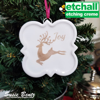 Etched Ceramic Christmas Ornaments