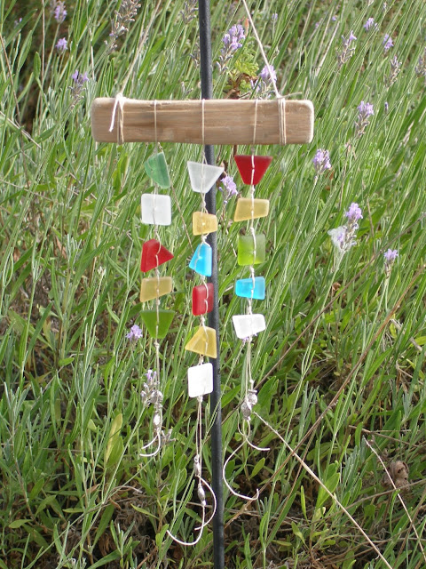 Etched Glass Wind Chime