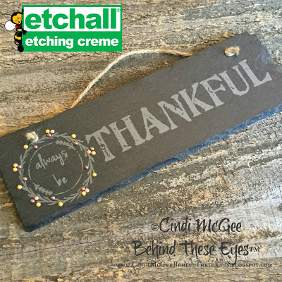 Etched Slate Fall Sign