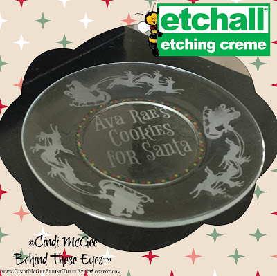 Etched Cookie Plate for Christmas