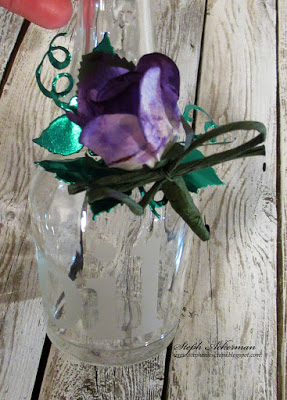 Decorative Rose Oil Bottle