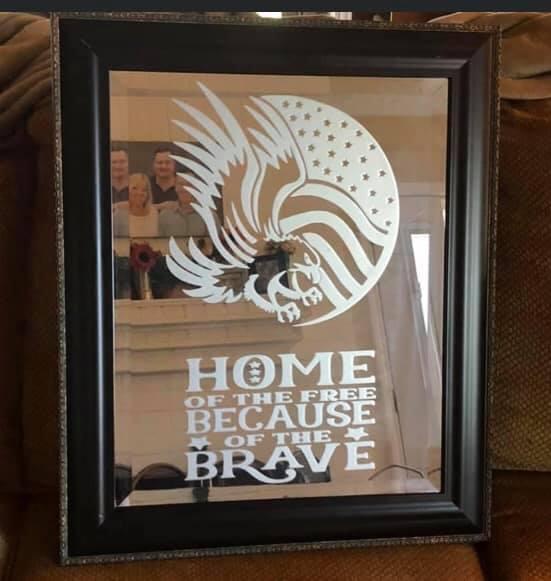 Patriotic Veteran Mirror
